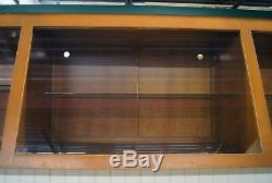 Lighted Display Case Retail Store Museum Business Counter Shelves Glass Wood Lrg