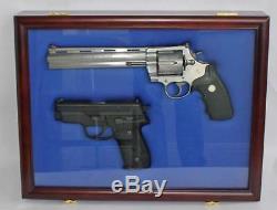 Lockable Handgun Pistol Gun Storage Display Case Protection Hanging Shadow Box