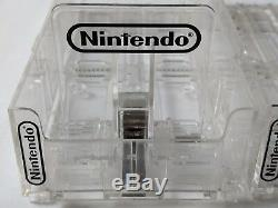 Lot of 5 RARE NES SNES N64 Game Storage Display Cases + Slider OFFICIAL Nintendo