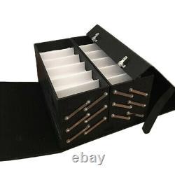 Luxurious 48 Slot Lock Eyeglasses Sunglasses Display Storage Organizer Case Box
