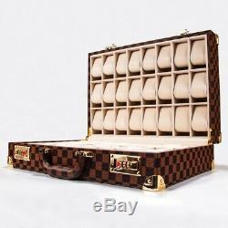 Luxury 48 Slot Watch Folding Display Case Organizer Storage