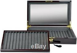 Luxury Display Pen Collection/Storage Case for 30 Pens-model PenPro-30RWRG