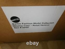 Mattel Barbie Silkstone Fashion Model Original Doll Store Display Case MIB