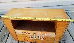 Mid Modern Vintage La Cross Manicure Beauty Wood Store Display Case Box
