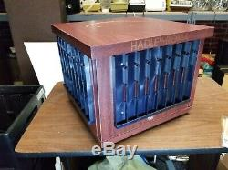 NIB Rotating Hadley-Roma Watch Band Display Wood Case with Locking Storage