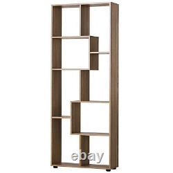 Natural Wooden Bookcase Modern Decor Display Shelves Bookshelf Storage Furniture