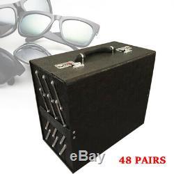 New 48 Slot Sunglasses Storage Organizer Eye Glasses Eyewear Display Case Box