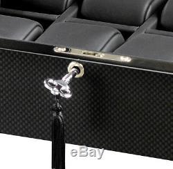 New High Quality VOLTA Carbon Fiber 8 Watch Display Case / Storage Box