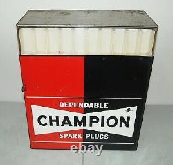 Nice! Vtg ORIGINAL 1960's Champion Spark Plugs STORE DISPLAY CABINET / SIGN