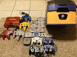 Nintendo Gamecube + N64 Console Lot Pikmin Display Storage Case FAST FREE Ship