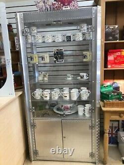 Oakley' Double Wide Display Case w. Lock and Storage area. Lighting capable