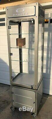 Oakley Retail Store Display Case Tower Cabinet Collector Limited Rare Sunglasses