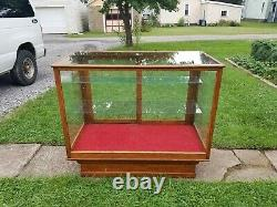 Old Antique WILMARTH General STORE DISPLAY CASE SHOWCASE Glass OAK Mercantile
