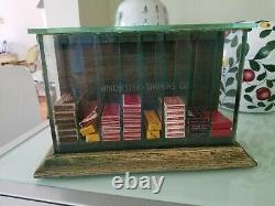 Old Winchester Simmons Razor Blade Store Counter Top Display Case w Some Blades