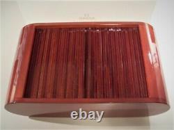 Omega Swiss Vintage Super Rare Dealer 8 Watch Mahogany Store Display Case Wt Box