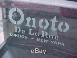 Original Antique De La Rue Onoto Fountain Pen Store Display Case London / Ny