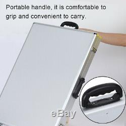 Portable Aluminum Box Suitcase Jewelry Display Storage Organizer Case with Stand