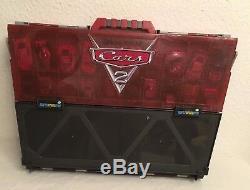 RARE Disney Cars 2 Fan Play N Display Storage Carry Case & 30 Die Cast Cars