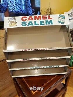 RARE Vintage Camel Salem Cigarette Store Metal Display Case Cavalier Shelf