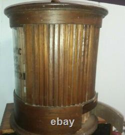 Rare 1897 Willimantic Revolving Six Cord Spool Cotton Thread Store Display