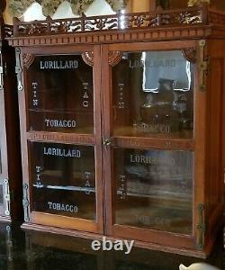 Rare & Fantastic 1883 Lorillard Store Tobacco Cabinet