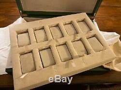 Rare Rolex Watch Storage Box Display Case 10 Watches 400mm x 300mm x 100mm