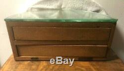Rare Small Oak Revolving Tray General / Country Store Showcase / Display Case