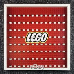 Red LEGO Logo Large Display Frame Black Storage Case Fits 104 Minifigures BIG