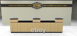 Retail Sales Counter, Transaction, Checkout, Cash Wrap, Store, Modular Cabinets