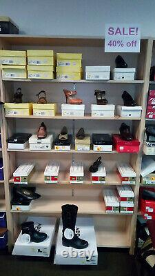 Retail store fixtures (clothing & shoe racks, slatwall, display cases, and more)