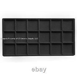 Rolling Jewelry Display Travel Sales Storage Case with 12 Trays & Inserts