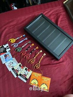 SEVEN Disney Store Keys Collection with Display Case/Limited Edition Plushes