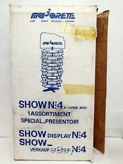 Scarce Unused Majorette Diecast Store Display Stand Case Sign Spiral No 4 W Box