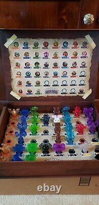 Skylanders Trap Team Collector Storage Display Case Chest with 32 Crystals Lot