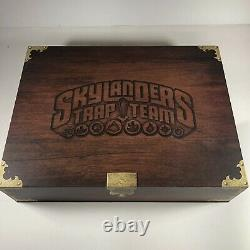 Skylanders Trap Team Collector Storage Display Case Chest with 34 Crystals Lot