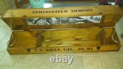 Springfield Armory 30 cal M1 D-Day Wooden display/storage Box New Open Box