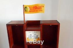 Steiff Vintage Wooden Shelf Wall Display Case Store/Home 21x13.75x4.5