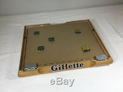 Super Nice Vintage Gillette NOS Store Display Case