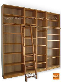 Teak Danish Modern Library Wall Unit Display Bookcase Case Credenza MCM Storage