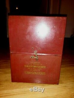Tennyson 5 Cent Cigar Store Tin Litho Counter Tobacco Store Display Case 1920s