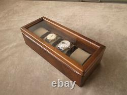 Toyooka Craft Wooden Alder Watch Case Box Display 4 collection Slot Storage