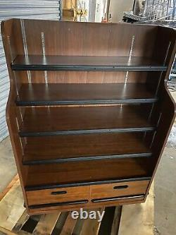UCD Wood 41.75 Brown Product Bakery Store Display Candy Fixture Shelf withDrawers