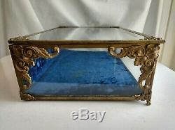 Ultra Rare Volupte Vintage Store Glass Display Case for Powder Compacts