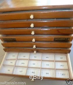 Unique Greek Wooden Butterfly Sewing Threads Store Display Advertising Case