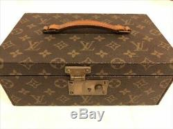 Used Louis Vuitton Jewelry Box Storage Case Display Vintage Good Condition Japan