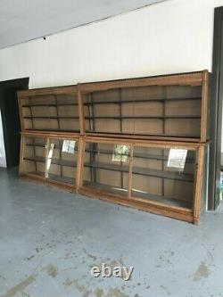 VERY large, ANTIQUE, oak GENERAL STORE, SHOWCASE shelving unit, hard to find