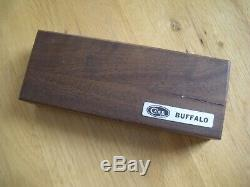 VINTAGE 7 DOT CASE XX BUFFALO KNIFE # P172 With WOOD DISPLAY BOX STORAGE ISSUES