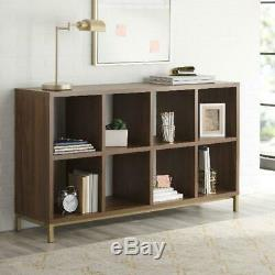 VINYL RECORD STORAGE ORGANIZER Shelf Cabinet Display Rack 8 Cube Vintage Walnut