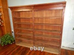 Victorian General Store Bookshelf 6' Adjustable Shelf Display Primitive Pine