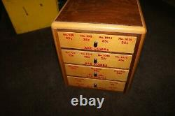 Vintage 1940's 1950's Store wooden display case Ace Combs